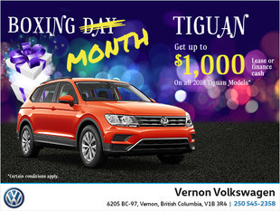 Boxing Month Tiguan Offer!
