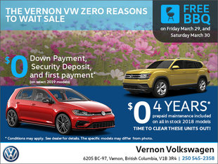 The Vernon VW Zero Reasons to Wait Sale