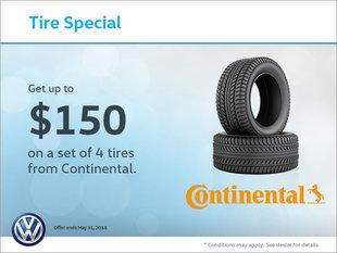 Get a Set of 4 Continental Tires!