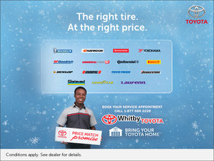Whitby Toyota Tire Offer