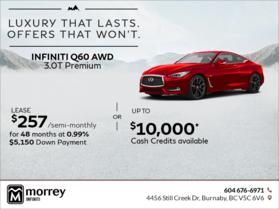 2017 Q60 AWD 3.0T Premium