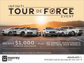 Infiniti Tour de force Event