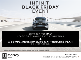 INFINITI Black Friday Event