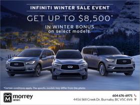 Infiniti Winter Sale Event