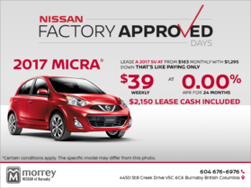 Get the 2017 Micra Today!
