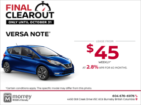 Get the 2018 Nissan Versa Note