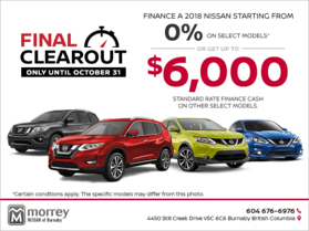 Nissan's Final Clearout Event!