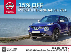 15% off micro filter and A/C service