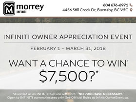The Infiniti Owner Appreciation Event