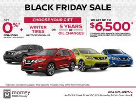 Morrey Nissan's Black Friday Sales Event!