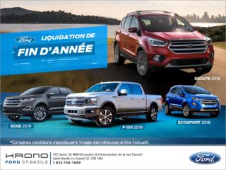 L'événement Liquidation de fin d'année chez Ford!