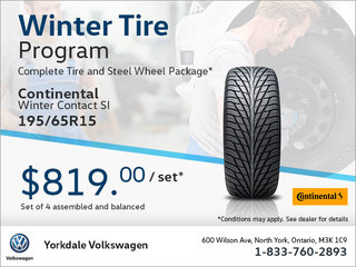 195/65R15 Tire Package