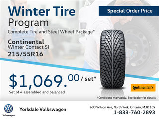215/55R16 Tire Package (Special Order)