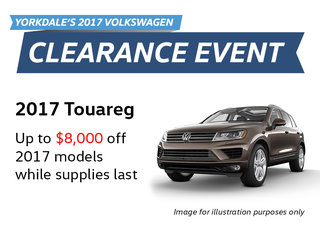 2017 Clearance Event: Touareg