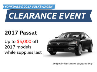 2017 Clearance Event: Passat