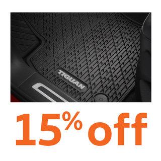 15% off all Volkswagen floor mats