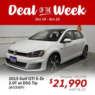 Deal of the Week: 2015 Golf GTI