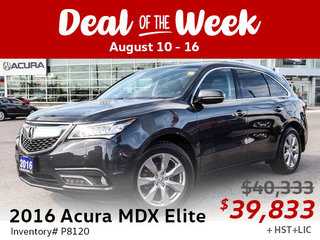 Save $500 on this accident-free 2016 Acura MDX Elite