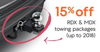 15% off RDX and MDX towing packages (up to 2018)