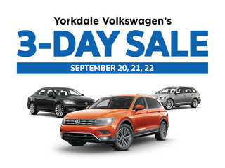 Yorkdale Volkswagen's 3-day Sale