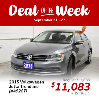 Deal of the Week: $800 off this 2015 Jetta