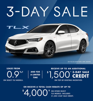 Acura TLX 3-day Sale