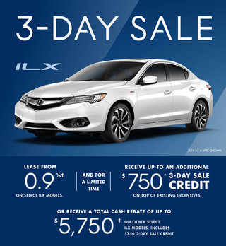 Acura ILX 3-day Sale