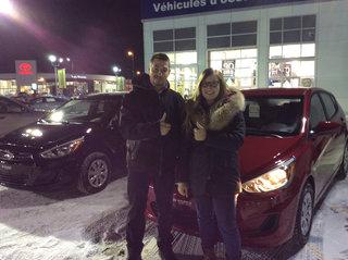 Contente et satisfaite! de Hyundai Trois-Rivières à Trois-Rivières