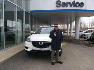 En grand confort avec mon nouveau CX-9 de Prestige Mazda à Shawinigan