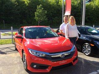 Honda Civic coupé EX-T 2016 de Groupe Vincent à Shawinigan et Trois-Rivières