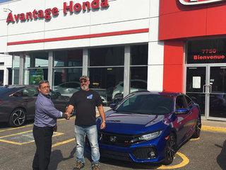 Une nouvelle Civic SI pour M. Gauthier! de Avantage Honda à Shawinigan