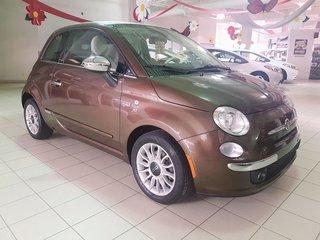 2013 Fiat 500 LOUNGE * AUT * CUIR * CONVERTIBLE *