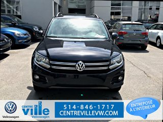 2015 Volkswagen Tiguan HIGHLINE (NAV+BROWN LEATHER INTERIOR+PANO ROOF))