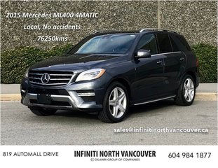 2015 Mercedes-Benz ML400 4MATIC in North Vancouver, British Columbia - 6 - w320h240px