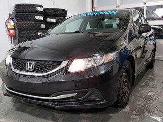 Honda Civic Sdn LX, SIEGES CHAUFFANTS, RÉGULATEUR, BLUETOOTH, A/C 2013