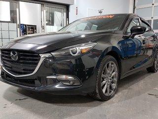 Mazda Mazda3 Sport GT, GROUPE TECH ET PREMIUM, DEMARREUR, NAV, CUIR 2018