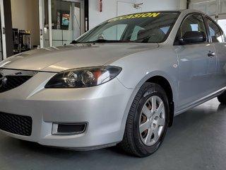 2007  Mazda3 A/C, ECONOMIQUE, SEULEMENT 117000 KM