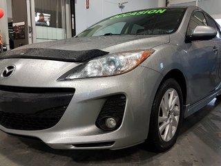 2013 Mazda Mazda3 GS-SKY, CUIR, A/C BIZONE, AUDIO BOSE, SIEGES ELECT