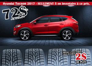 Hyundai Tucson à 72$ par semaine, seulement cinq en inventaire