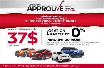 L'événement Approuvé par le fabricant chez Nissan