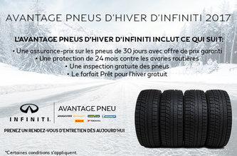 Avantage pneus d'hiver d'Infiniti 2017