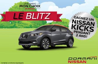 Gagnez un Nissan Kicks pour 2 ans!