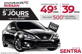 Le Blitz de 5 Jours de Nissan Sentra