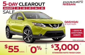5 Day clearout sale Qashqai