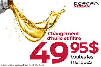 Promotion changement d'huile