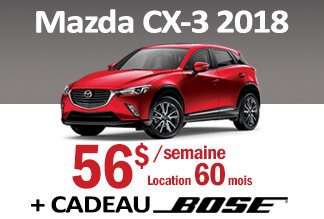 Mazda CX-3 2018 - Promotion