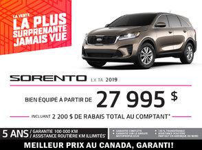 Sorento 2019 - Promotion
