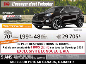 Sportage 2020 - Promotion