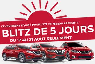 Blitz Nissan du 17 au 21 aout 2017