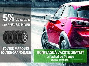 5% de rabais sur pneus d'hiver